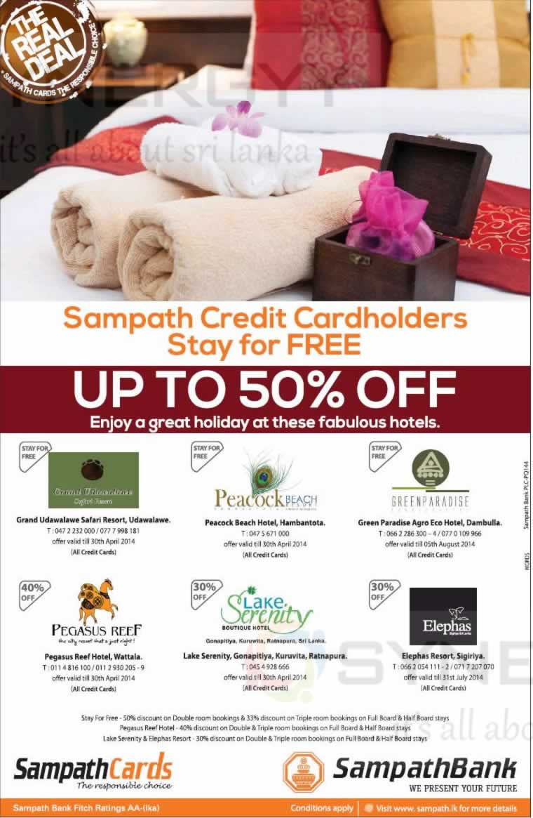 hotels offer for sampath credit card synergyy. Black Bedroom Furniture Sets. Home Design Ideas