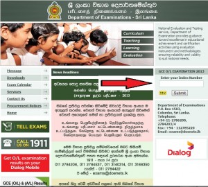 How to Check G.C.E (OL) 2013 Result at www.doenets.lk