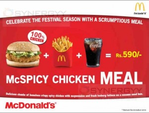 McDonald's McSpicy Chicken Meal in Srilanka – Price Rs. 590.00