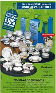 Noritake New Year Sale – Discounts Upto 10 for Purchases over Rs. 15,000.00 – April 2014