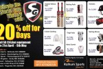 SG Cricket equipment Discounts upto 20% from 21st April – 9th May 2014 at Ralhum Sports