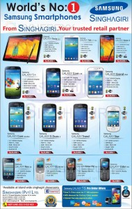 Samsung Smartphone updated price in Srilanka – April 2014
