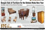 State Timber Corporation (STC – Government) Furniture Bargain Sale – upto 30th April 2014