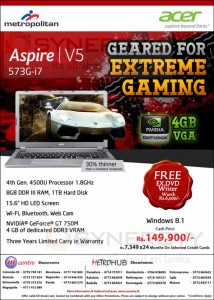 Aspire V5 - 573G-i7 for Rs. 149,900.00 from Metropolitan
