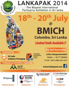 LANKAPAK 2014 - International Packaging Exhibition in Sri lanka on 18th to 20th July 2014