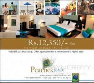 Peacock Beach Resorts for Rs. 12,350- Net till 31st May 2014