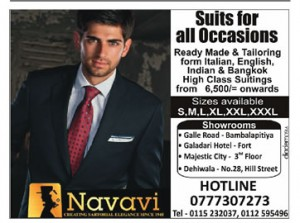 Suits for all Occasions in Colombo from Navavi