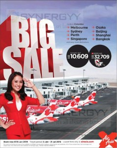 Air Asia Special Promotion for Booking till 8th June and Travel from 5th January to 31 July 2015