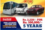Buy Isuzu Vehicle with HNB Leasing