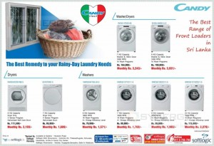 Candy Washer, Dryer Prices in Srilanka – Washing Machine Promotions June 2014