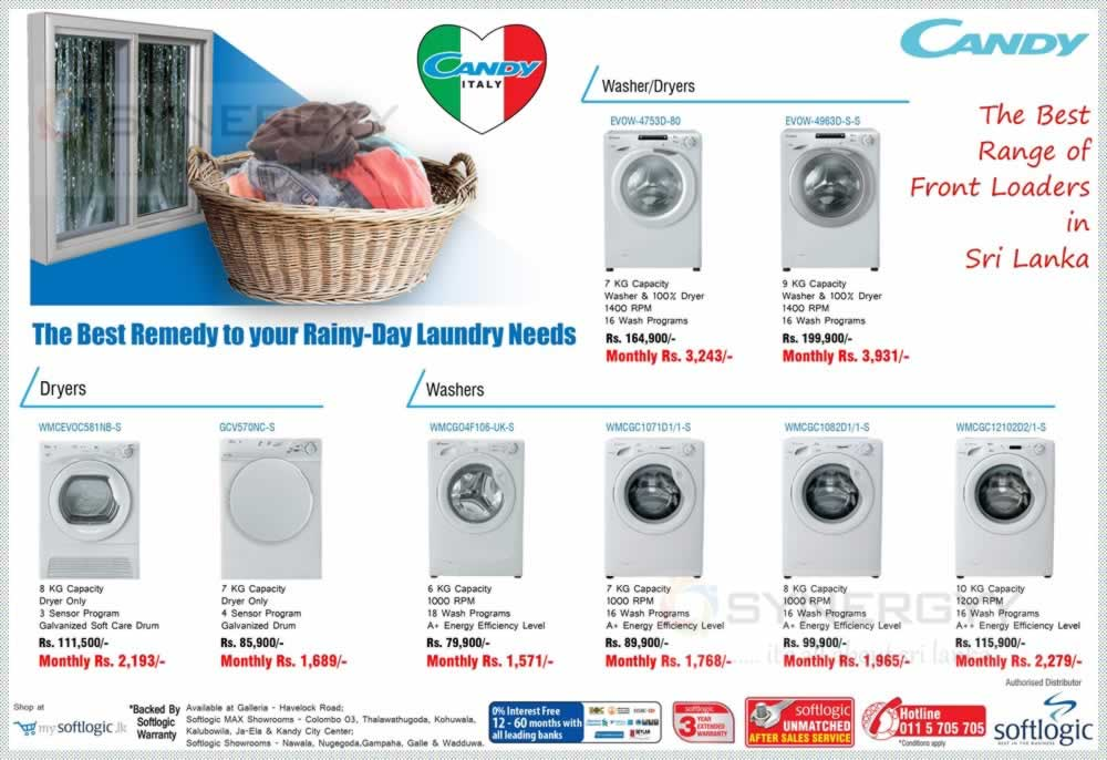 Candy Washer, Dryer Prices in Srilanka – Washing Machine ...