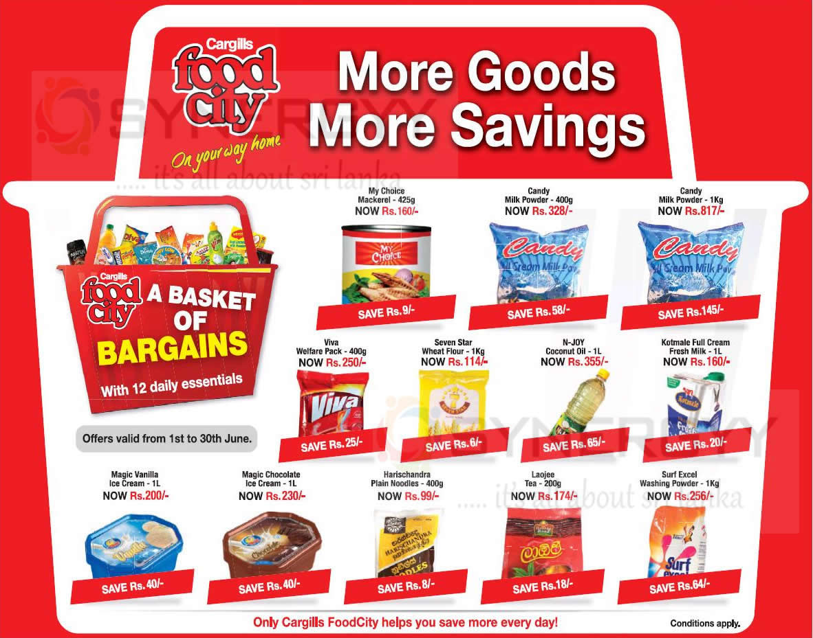 Cargills Food City June 2014 offers and Promotion – 12 ...