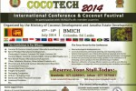 Coco Tech 2014 International Conference & Coconut Festival in Colombo Srilanka – on 7th to 10th July 2014