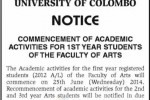 Commencement of Academic Year of 1st Year Student of University of Colombo – 25th June 2014