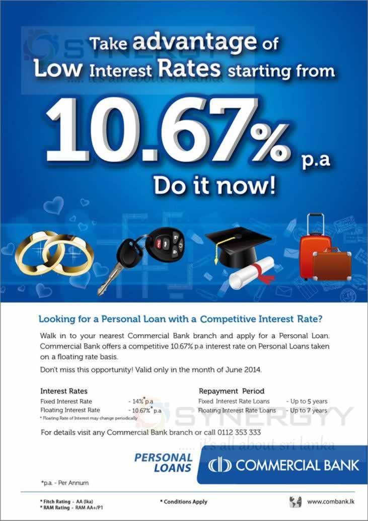 Commercial Bank Loan Interest Rate Synergyy