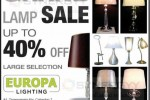 Europa Lighting sale upto 40%