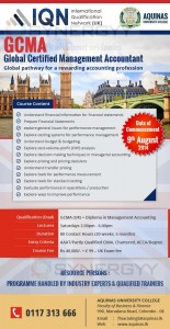GCMA - Global Certified Management Accountant Courses from Aquinas – Application calls now