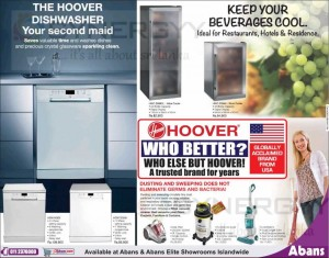 HOOVER Dishwasher and Wine Cooler in Srilanka – Only at Abans – Prices attached below