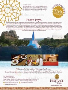 Heritage Hotel Anuradhapura – 35% off for Poson Poya Holidays