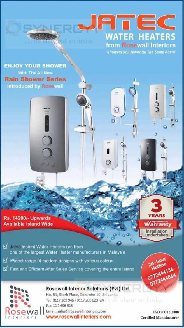 Jatec Water Heaters And Showers From Rs 14 200 00 Upwards