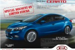 Kia Cerato for Rs. 3,990,000/- upwards in Srilanka – July 2014