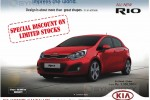 Kia Rio for Rs. 3,550,000.00 Upwards – June 2014
