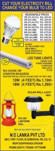 LED Bulb, LED Tube Lights and Solar Wall Lights for affordable Price