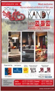 Living in Style – Home and Interior exhibition in Kandy – 6th to 8th June 2014