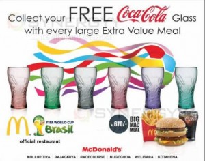Free Coca-Cola Glass from McDonalds Srilanka