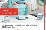 Meal at Burger King and enjoy 25% off on total Bill for your HSBC Credit Card – Till 2nd July 2014