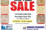 Naveen Ceramic Porcelain Floor Tile midyear Sale – till 30th June 2014
