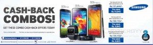 Samsung Cash Back Combos for Samsung Galaxy S Series Mobile and Galaxy Gear or FIT smartwatch