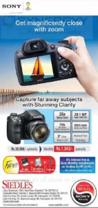 Sony 35X Optical Zoom Camera for Rs. 38,990- from Siedles