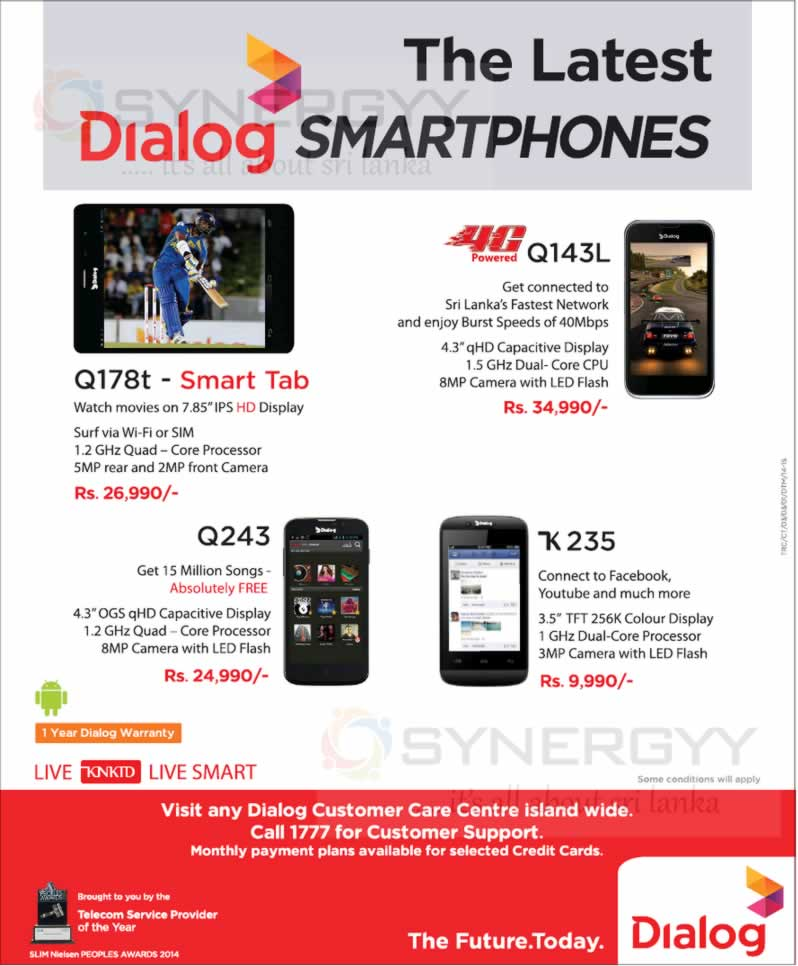 customer satisfaction of dialog srilanka Currently standing with a customer base of over 5 million mobitel continued with its strategy positioned recognized by the institute of engineers sri lanka.