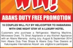 Buy Abans Duty free shop and Fly by Helicopter to Habarana