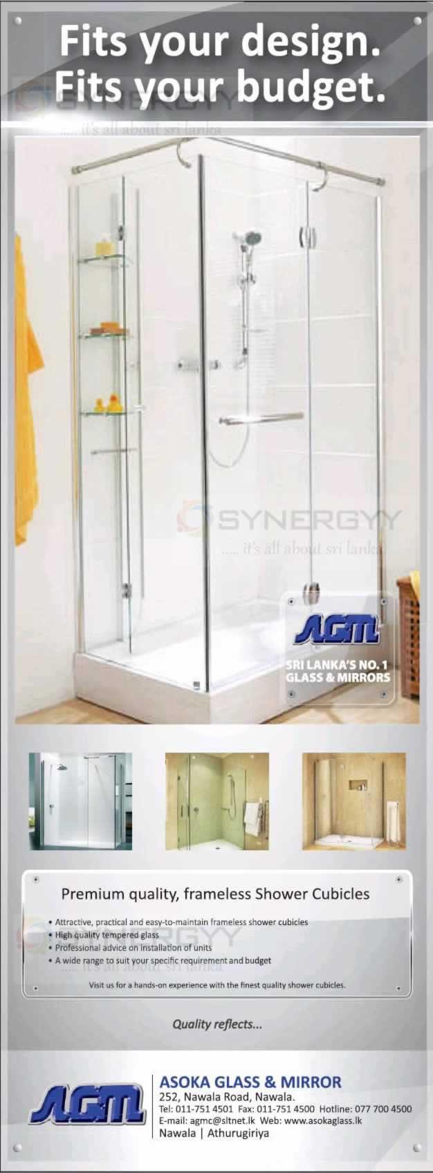Frameless Shower Cubicles in Srilanka | SynergyY