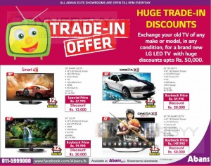 Abans Exchange offers for Old TV to New TV