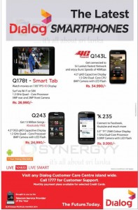 Dialog Smartphone Prices and Features in Srilanka