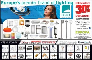 Europa Lighting – 30% Discounts on Premier Brand Lighting