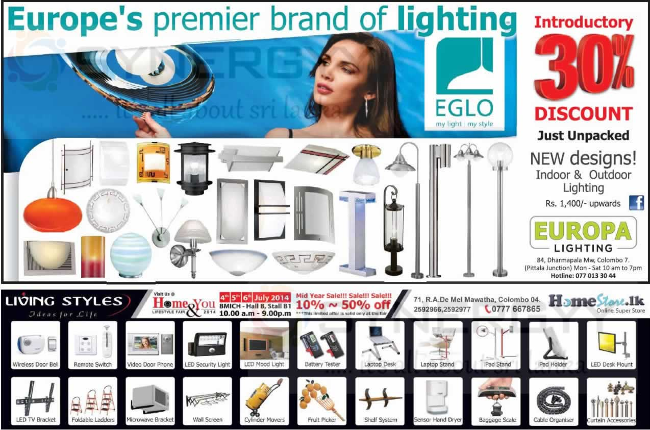 Europa Lighting 30 S On Premier Brand