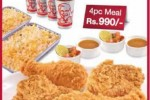KFC Family Feast – 4 Pcs Meal for Rs. 990.00 only till 31st August 2014