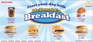 McDonalds Breakfast Menu in Sri Lanka