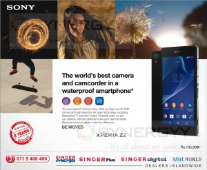Sony Xperia Z2 available in Singer Sri Lanka for Rs. 105,999.00