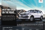 Toyota Fortuner for Rs. 7.1 Million for Permit Holder – September 2014