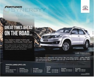 Toyota Fortuner for Rs  7 1 Million for Permit Holder