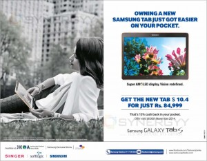 Buy Samsung Galaxy Tab S from Samsung Authorized Dealer in Sri Lanka and Enjoy 15% Cash back offer till 30th November 2014