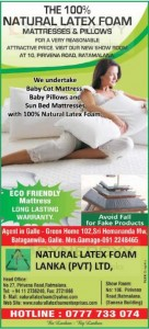 The 100% natural latex foam from Natural Latex Foam Lanka