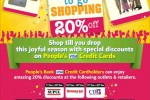 20% off for People's Bank Credit Card – Promotion valid till 31st December 2014