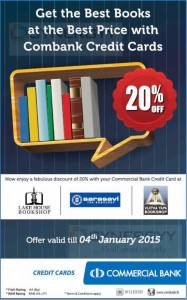 Commercial Bank Credit Card Promotion for Bookshops – Discounts upto 20%