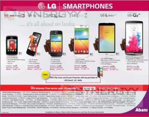 LG Smartphone SalePromotion in Sri Lanka – December 2014